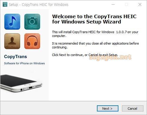 CopyTrans HEIC for Windows 설치